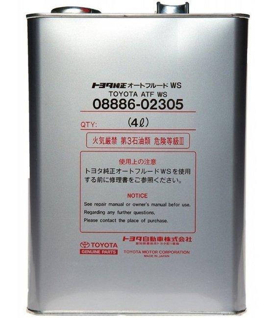 Трансмиссионное масло ATF Fluid WS  4L
