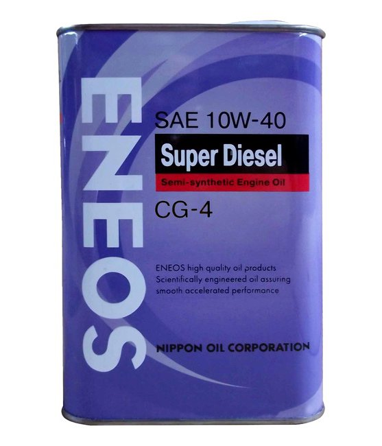 Масло моторное ENEOS Super Diesel Semi-synthetic CG 10W-40  1L