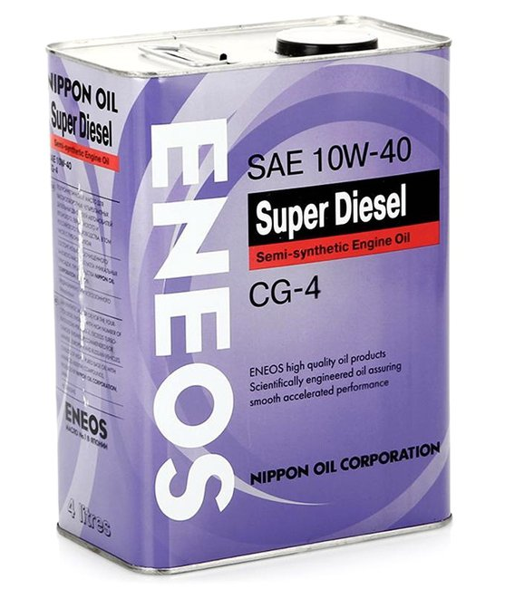 Масло моторное ENEOS Super Diesel Semi-synthetic CG 10W-40  4L